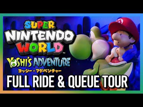 Yoshi's Adventure FULL RIDE & Queue Tour - Super Nintendo World