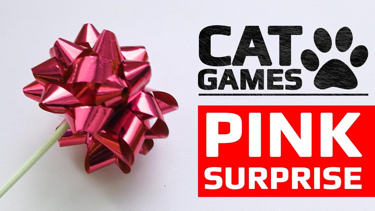 CAT GAMES – 😺 PINK SURPRISE (ENTERTAINMENT VIDEOS FOR CATS TO WATCH)