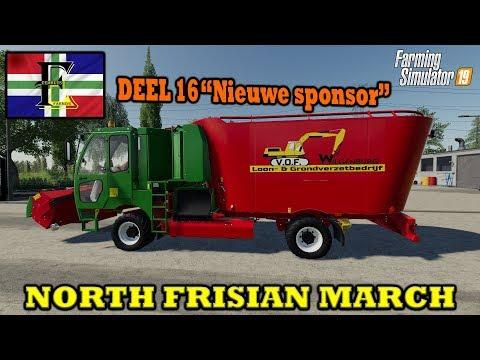 """Farming simulator 2019 NORTH FRISIAN MARCH """"Nieuwe Sponsor!"""" Eem en Ko!"""
