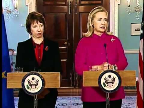 Secretary Clinton Delivers Remarks With European Union High Representative Ashton