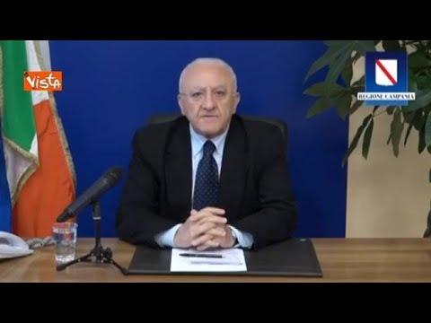 De Luca: «Milano non può ancora convivere col Coronavirus, troppi contagi»
