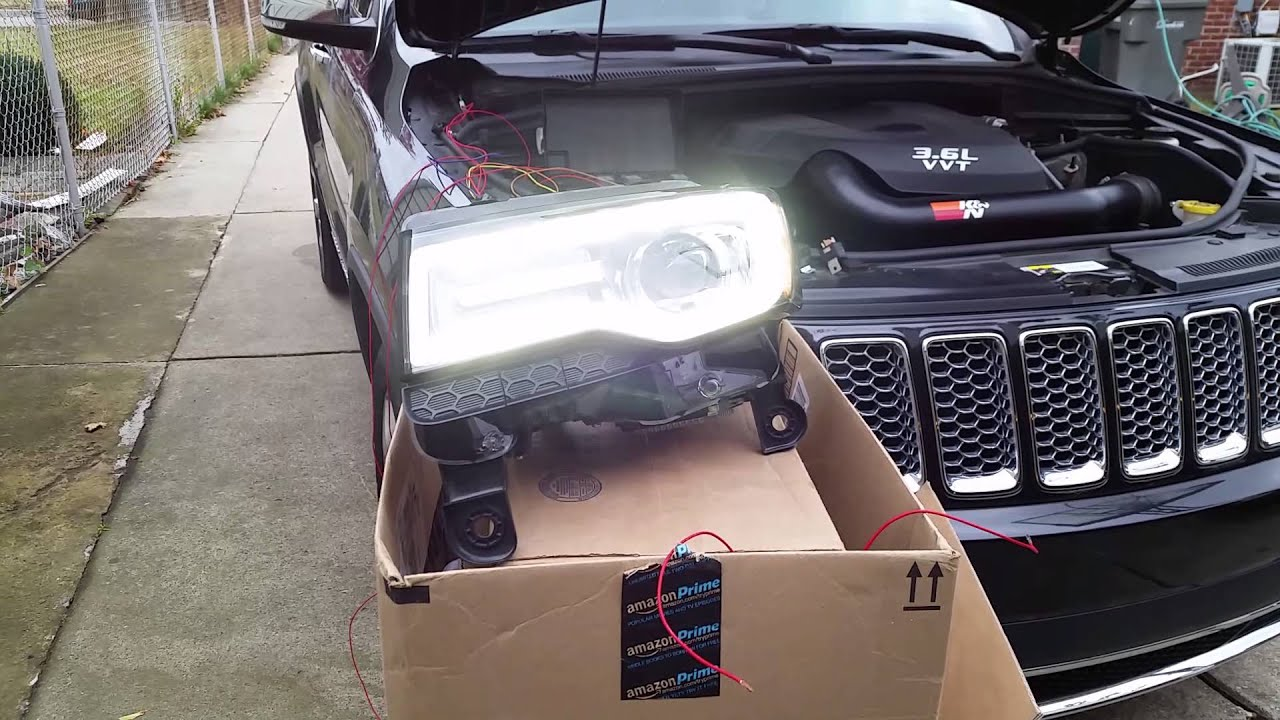 maxresdefault 2014 jeep grand cherokee led hid conversion part 2 youtube Jeep Cherokee Stereo Wiring at bakdesigns.co
