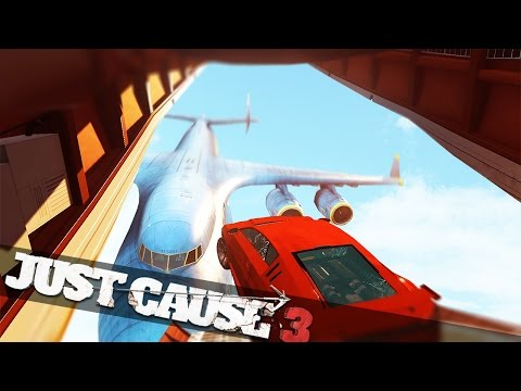 JUMPING A CAR FROM PLANE TO PLANE!!! :: Just Cause 3 Multiplayer Stunts!