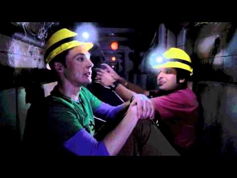 Sheldon singing in the tunnel (mining song)