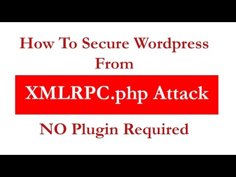 How To Prevent Wordpress XMLRPC Attack (No Plugin)