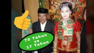 Mantap!! Pernikahan Duda 70 Tahun Cewek 18 Tahun