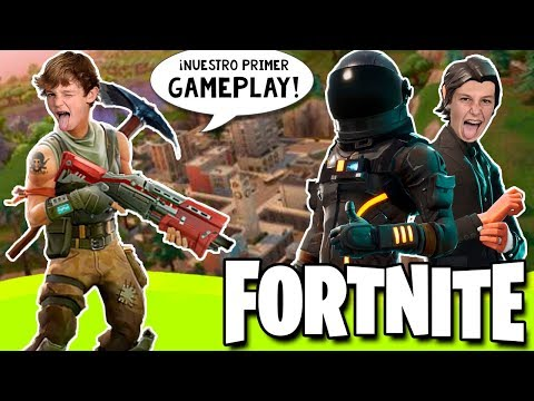 FORTNITE Battle Royale MODO Solitario 🎮 ¡Nuestro primer GAMEPLAY en el canal 😂