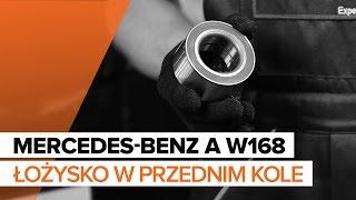 Wymiana Łożysko piasty MERCEDES-BENZ A-CLASS: instrukcja napraw