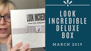 LOOK INCREDIBLE Deluxe Beauty Box | March 2019 | Beauty Over 40