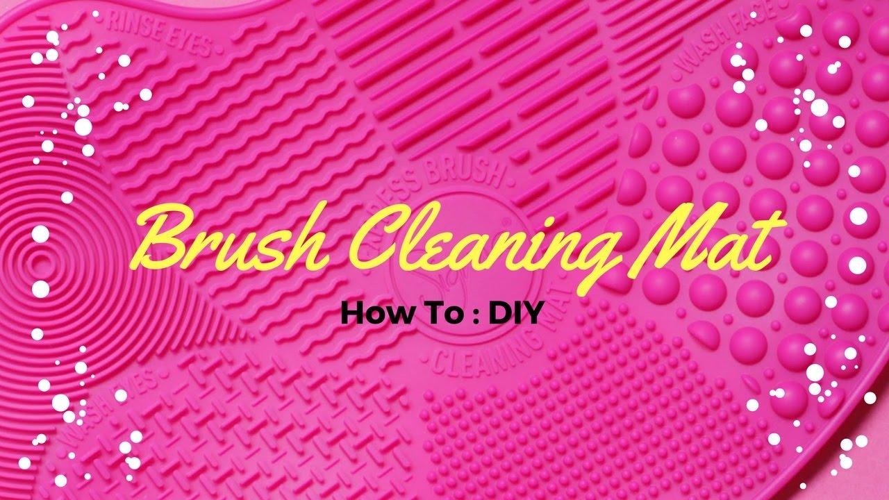diy brush cleaning mat. how to: diy | brush cleaning mat diy