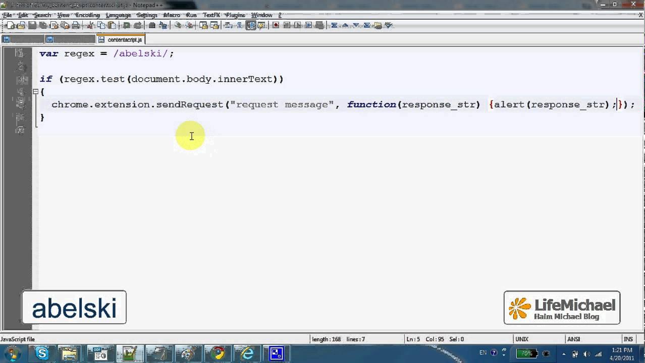remove chrome extension script
