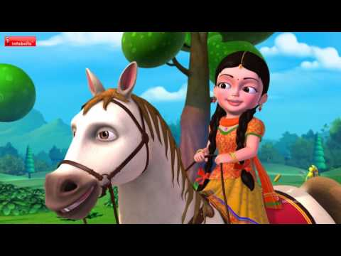 Chal Chal Gurram | Telugu Rhymes for Children | Infobells