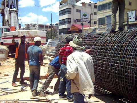 Trabajos Construcción Linea 2 Metro de Santo Domingo.  Estación E19 L2