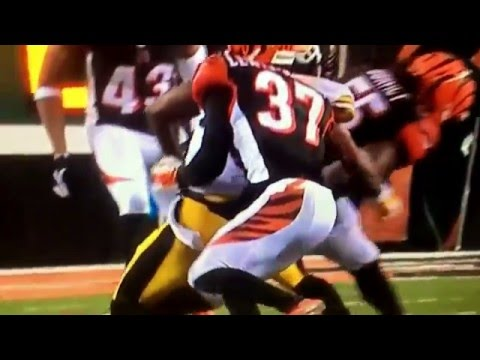 Illegal hit on ANTONIO Brown Steelers vs Bengals NFL playoffs Concussion