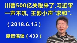 """川普500亿关税来了, 习近平一声不吭, 王毅小声""""求和"""".(2018.6.15)"""
