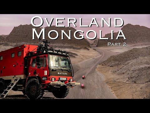 Overland Mongolia Pt. 2 Tiny Home Overland truck crosses the Gobi desert.