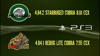 CFW 4.84.2 STARBUGED COBRA 8.01 MOD FAN (CEX) + 4.84.1 REBUG LITE COBRA 7.55 MOD FAN (CEX) [LINK]