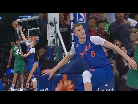 Al Horford Dunks on Porzingis! Christmas Game Boston Celtics vs New York Knicks 2016