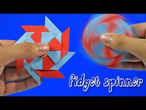 Papierowy Fidget Spinner - Origami - Spinnery z papieru! - Beniamin
