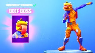 NEW! BEEF BOSS SKIN! (DIP EMOTE Is Back! New Item Shop Update) Fortnite Battle Royale