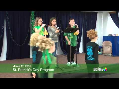 St. Patrick's Day Program at Brookfield Elementary School