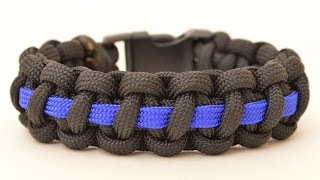 Make a Police Thin Blue Line Paracord Survival Bracelet - BoredParacord.com