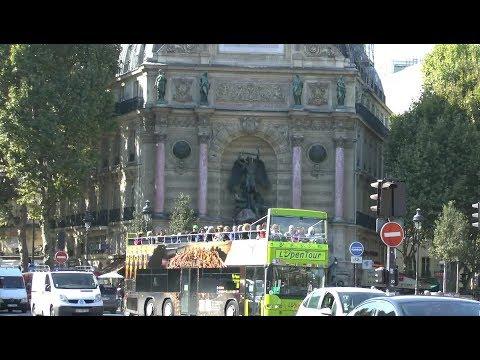 Paris France  Place Saint Michel Pont Saint Michel