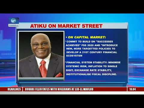 Atiku On Funding Nat'l Priorities Through Capital Market |Business Morning|