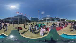 Flag Hoisting Ceremony | 360° | Jalsa Salana Germany 2019