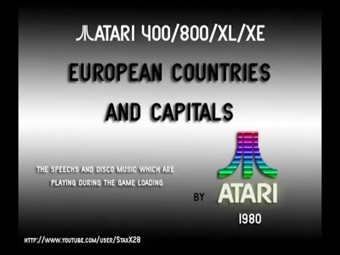 Atari 8-bit - Cassette Dual Track system - European Countries And Capitals [Atari] 1980.