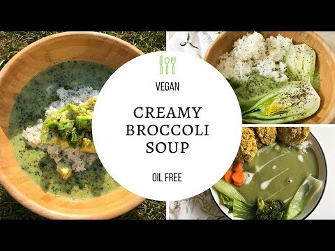 VEGAN CREAMY BROCCOLI SOUP | OIL FREE | TASTY LOTUS