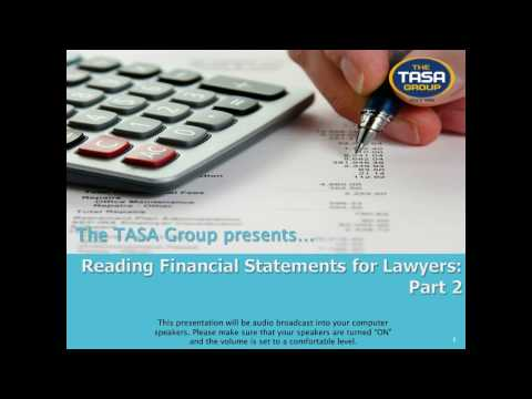 Reading Financial Statements for Lawyers: Part 2