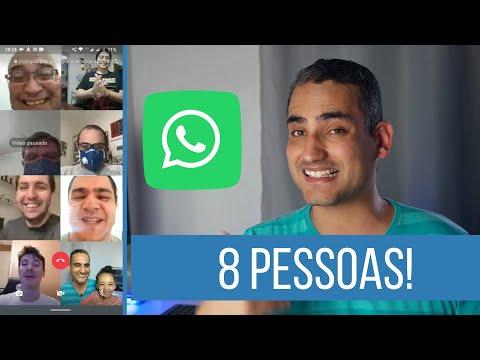 WhatsApp:  Veja Como Fazer Chamada De Vídeo COM 8 PESSOAS!