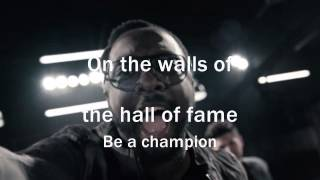 The Script - Hall Of Fame ft. will.i.am ( lyrics)