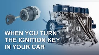 What happens when you turn the ignition key in your car? Internal combustion engine (Car Part 1)