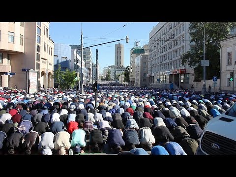 УРАЗА-БАЙРАМ 2019, МОСКВА, НАМАЗ / Орозо айт 2019 Орусияда / Eid Ul-Fitr