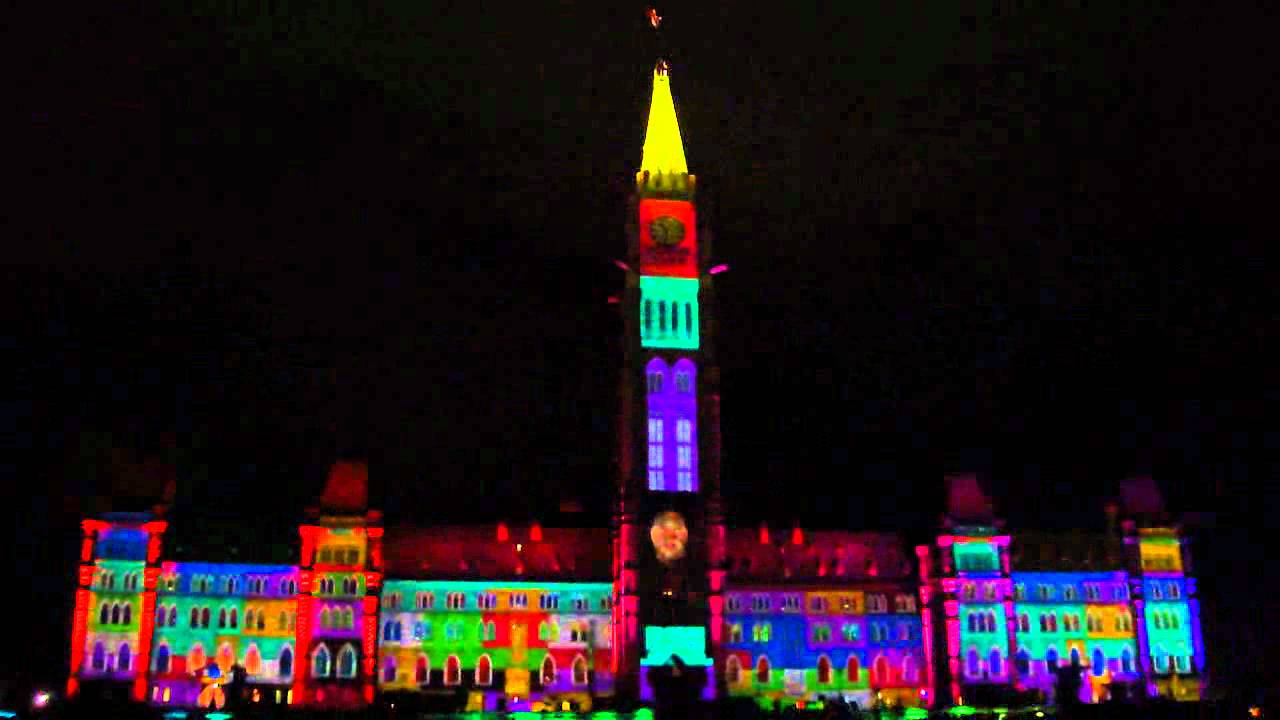 Ottawa Parliament Hill Mosaika Sound And Light Show Youtube