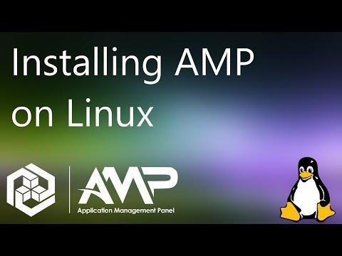 Installing the AMP Game Server management panel on Linux