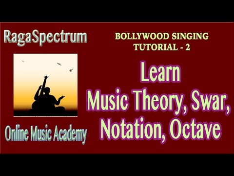 Bollywood Singing - Tutorial 2 [AUDIO CORRECTED] - Music Theory, Swar, Notation,Octave |RagaSpectrum