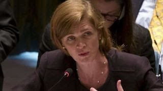 Former UN ambassador Power talks with House Intel Committee