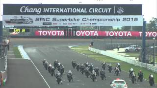 bric superbike championship 2015 race 1 superbike 1000 cc sb3   hi light