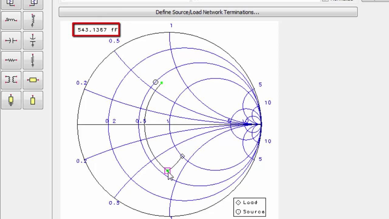 Smith Chart Utility for Impedance Matching
