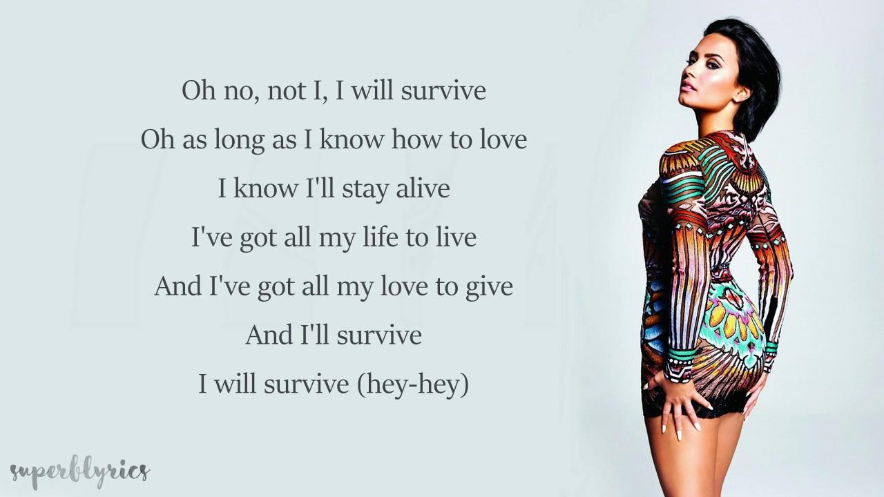 Demi Lovato I Will Survive Lyrics Chords Chordify