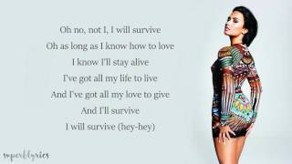 Demi Lovato - I Will Survive (Lyrics) thumbnail