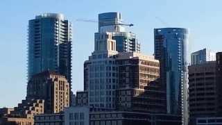 Ferry Ride View. San Francisco New Construction High Rise Condominiums Bay Bridge. Millenium Tower.