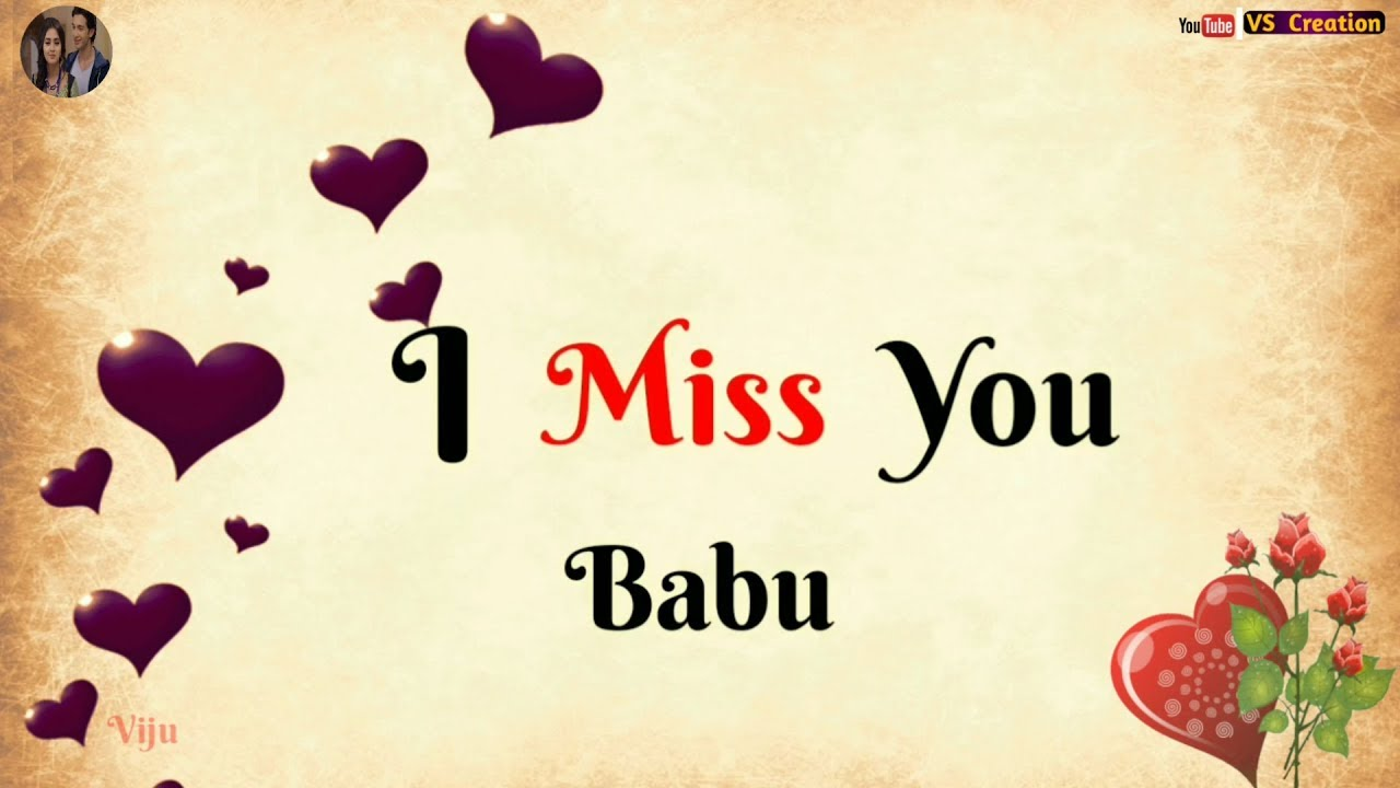 I miss you babu status sad whatsapp status love quotes status vscreation