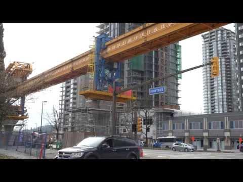 SkyTrain Evergreen Line Lincoln Station 4K Video Coquitlam B.C. Canada February 13 2015