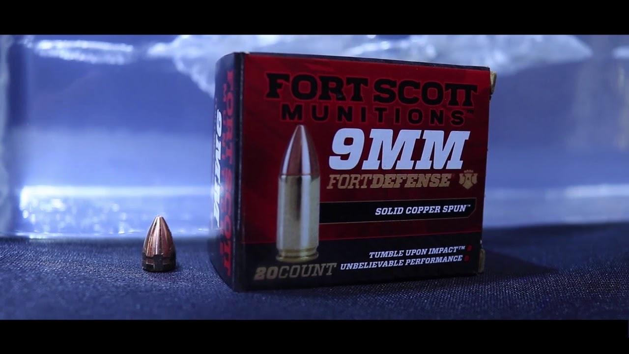 Fort Scott Munitions 9mm 80grain vs Clear Ballistics Gel