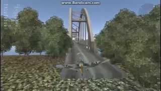 WT: Landing in a Bridge in a Bf 109 F-4