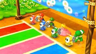Mario Party The Top 100 MiniGames - Mario Vs Yoshi Vs Waluigi Vs Luigi (Master Cpu)